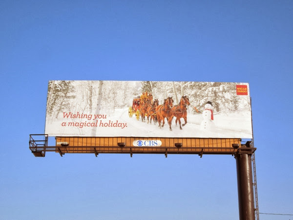 Wells Fargo magical holiday billboard