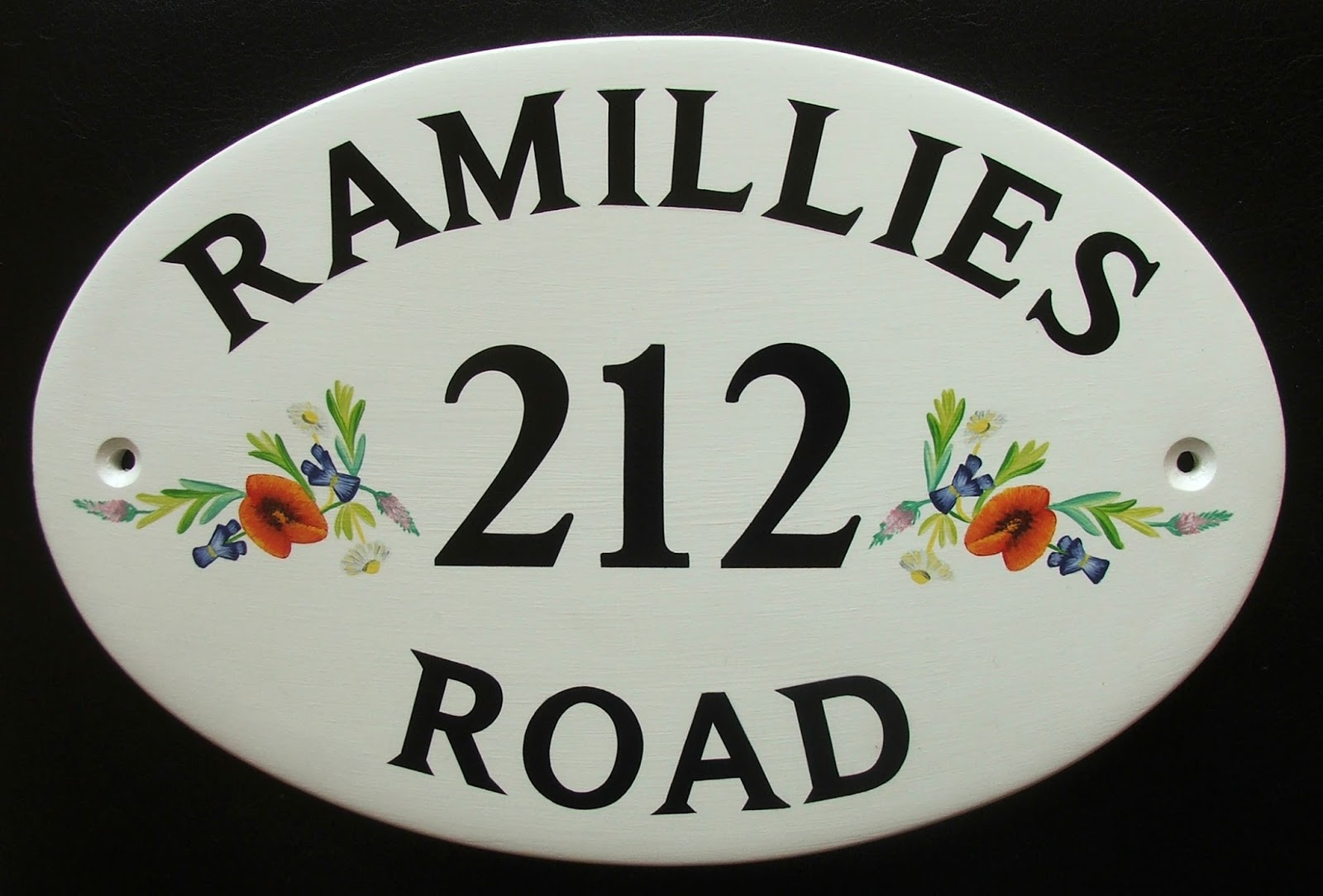 hand painted house signs by ceramic art house name plates. Black Bedroom Furniture Sets. Home Design Ideas