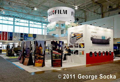 Fujifilm booth at Graphics Canada 2011