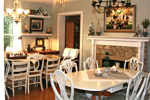 Back to home school an interview with lisa pennington for Homeschool dining room ideas