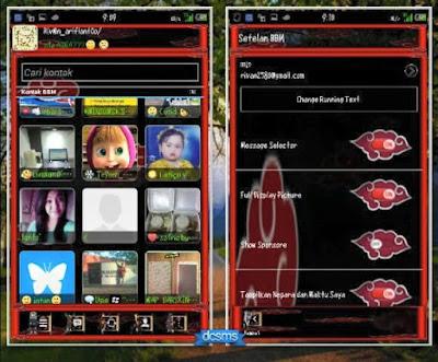 Download BBM Mod Akatsuki Theme Version 2.8.0.21 Apk