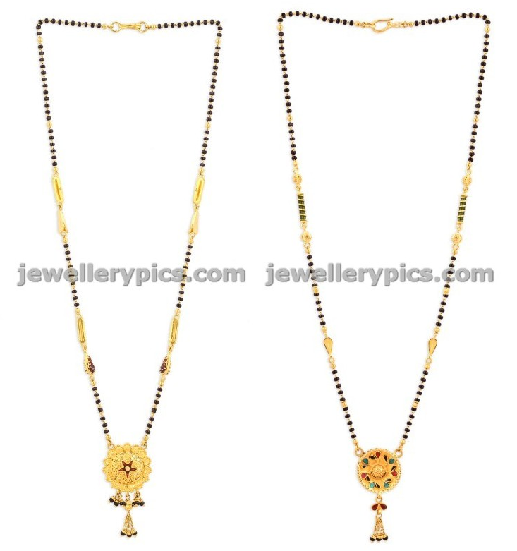 malabar gold black beads chains