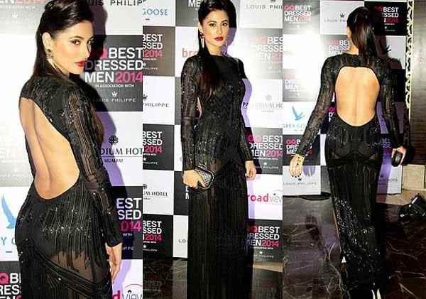 Nargis Fakhri At GQ India's Best Dressed Men 2014 Awards