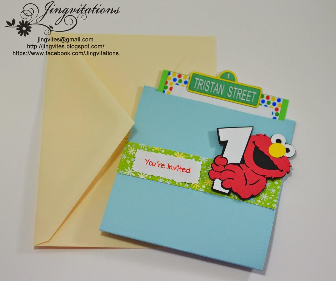 Elmo Birthday Invitations Birth Announcement Sesame Street