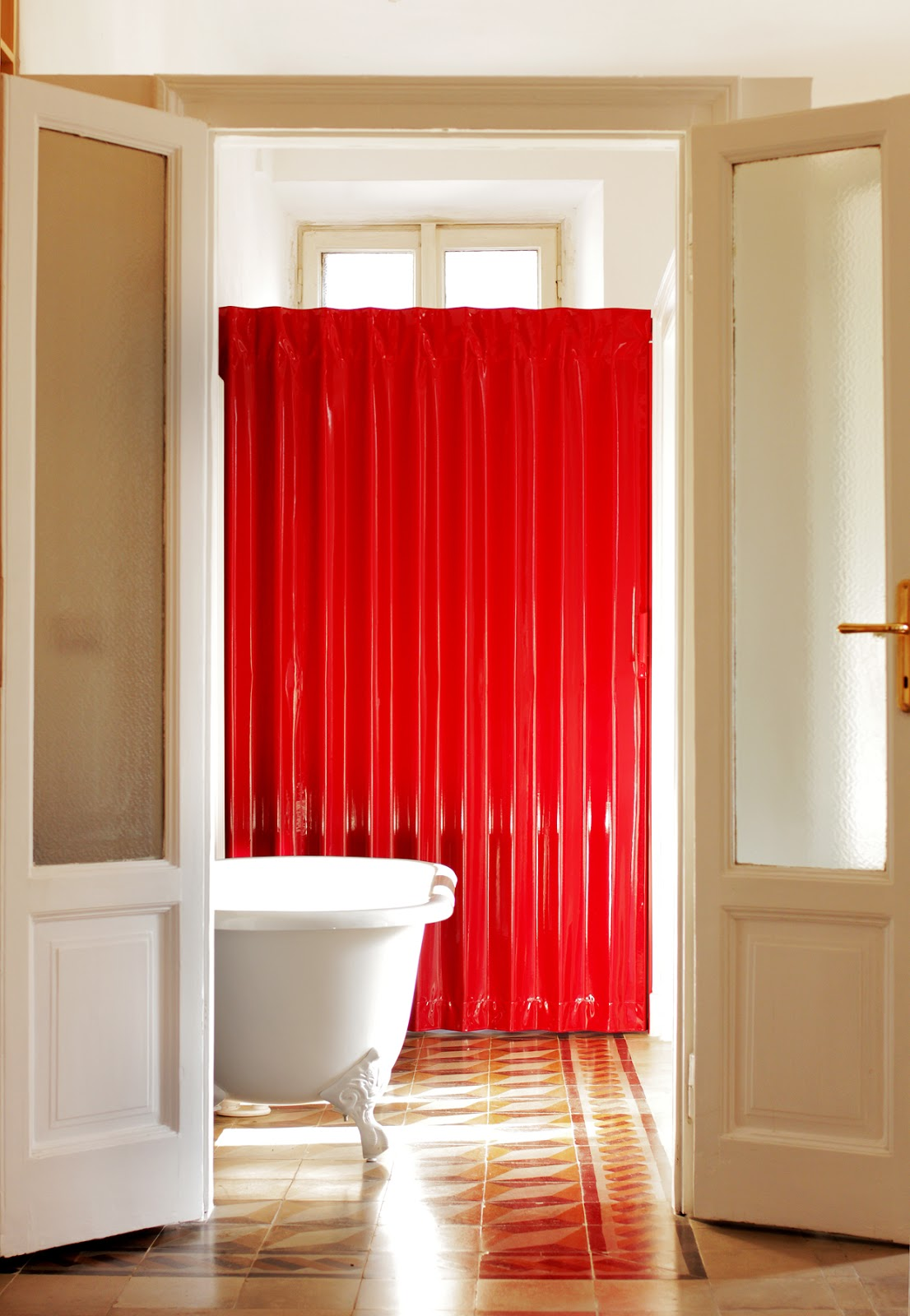 Glossy Red Folding Door By Arch Feresin Milan