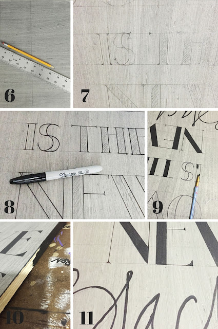 Step by step post on how to create signage without using a stencil or technology