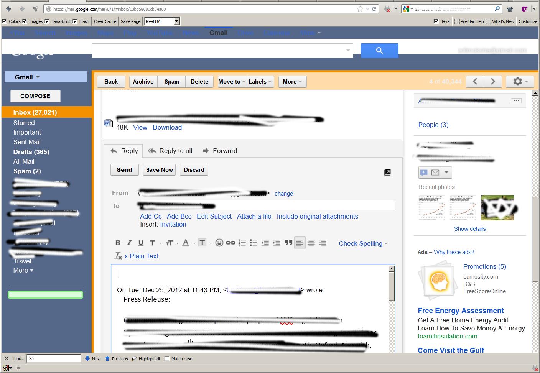 Themes cho gmail - Stylish Plugin To Mozilla Firefox Gmail B2b Nightshade Theme Compose View