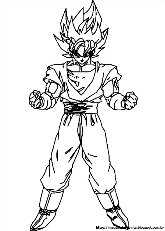 Desenhos Para Colori dragonball z dbz goku desenhar