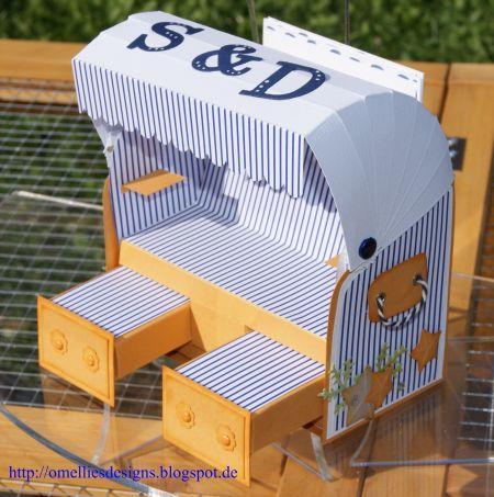 Omellie 39 s designs strandkorb beach chair zur silberhochzeit - Silberhochzeit geschenke ideen ...