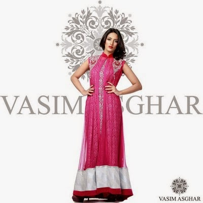Vasim Asghar Winter-Fall Collection 2014-2015 Featuring Mathira