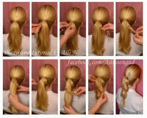 Как сделать причёску кукле с длинными волосами7