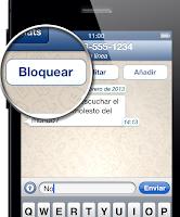 Bloquear un contacto en WhatsApp para iPhone.