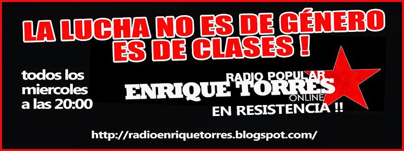 PROGRAMA RADIAL: LA LUCHA NO ES DE GENERO ES DE CLASES!!!!