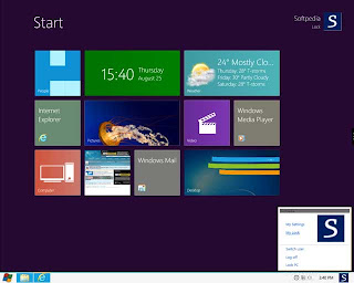 Windows 8 Desktop view
