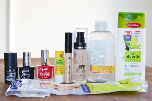 aufgebrauchte Kosmetik im Dezember 2012