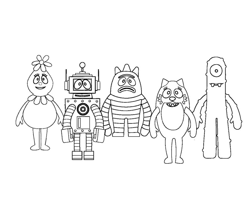 yogabbagabba coloring pages - photo #45