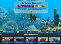 Oceano 3D con i pesci