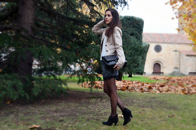 look-blogger-falda-skirt-blazer-blouse-blusa-trends gallery