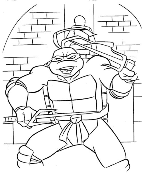 ninja coloring pages for kids - photo#16