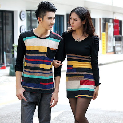 Contoh Baju Rajut Couple Import Korea