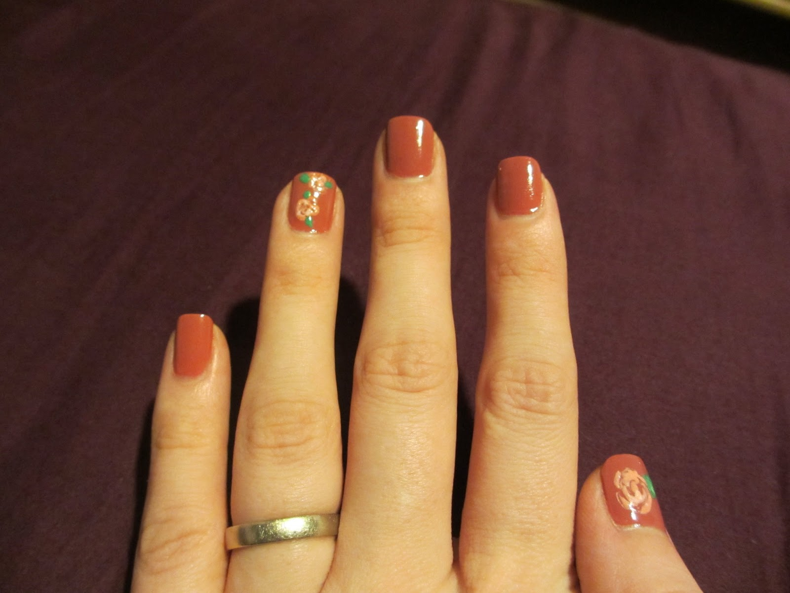 china glaze life is rosy nail art