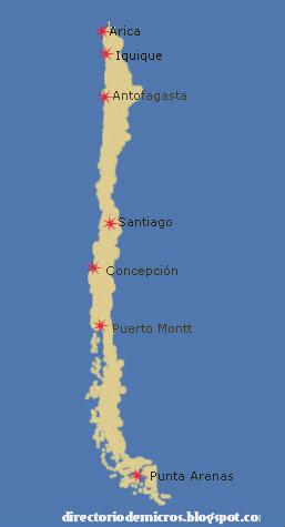 directorio de micros: aeropuertos internacionales de chile