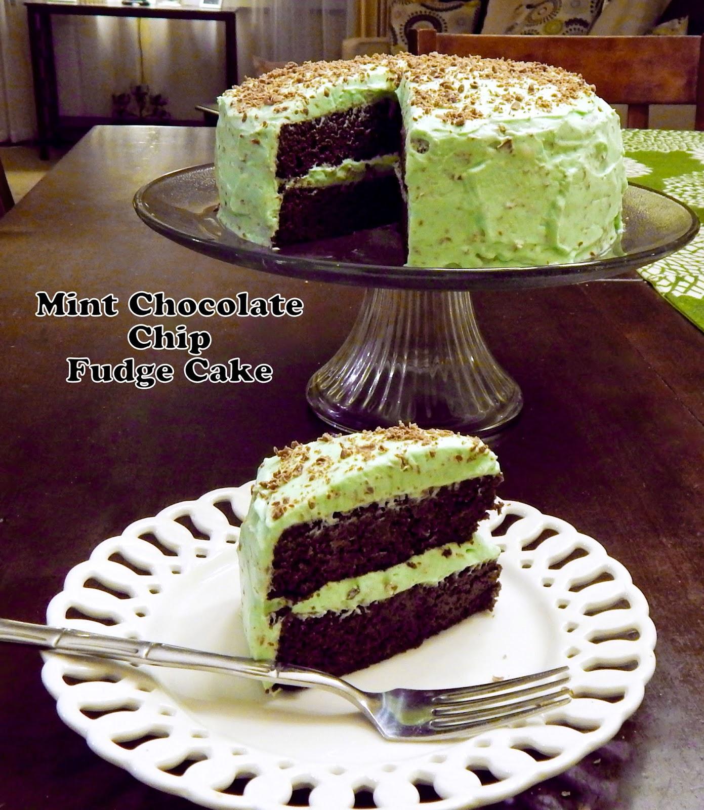 Mint Chocolate Chip Fudge Cake Cut The Wheat