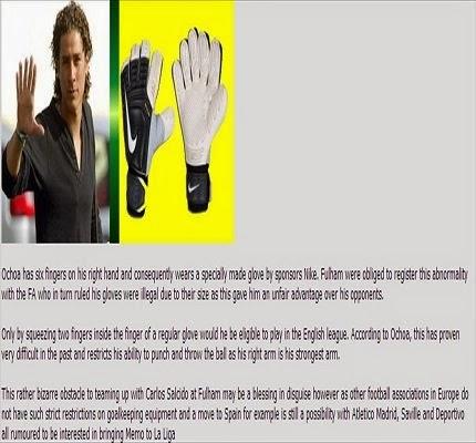 حقيقة امتلاك الحارس المكسيكي 6 أصابع فى يده اليمنى