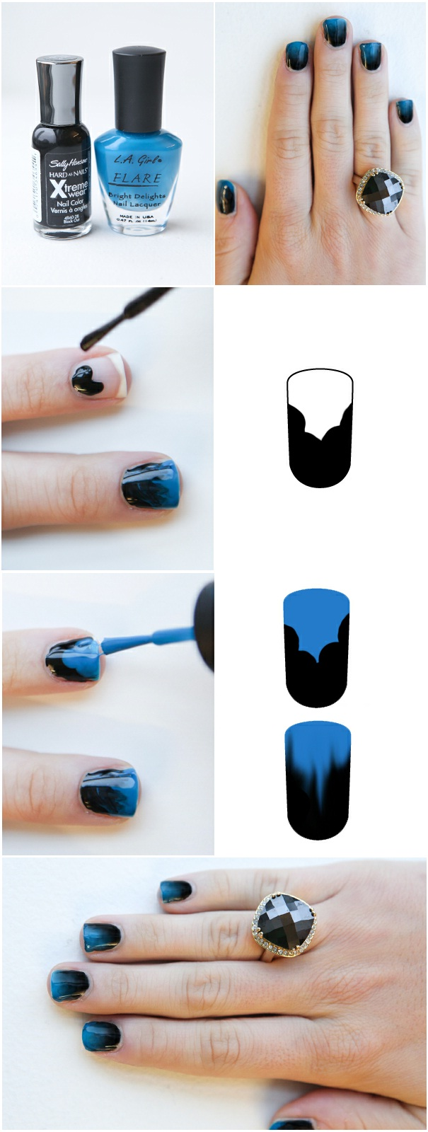 how to Get cute Ombre Nails