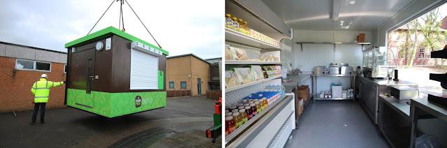 PKL Food Cube at Tewkesbury School