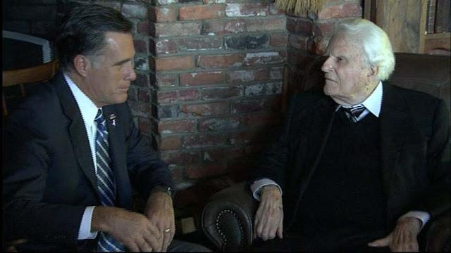 Rev. Billy Graham and Mitt Romney meet - Billy Graham endorses Romney