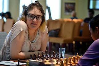 Nana Dzagnidze qui réalise une performance Elo à 2778 est sur les talons de Hou Yifan - Photos © Alina L'Ami
