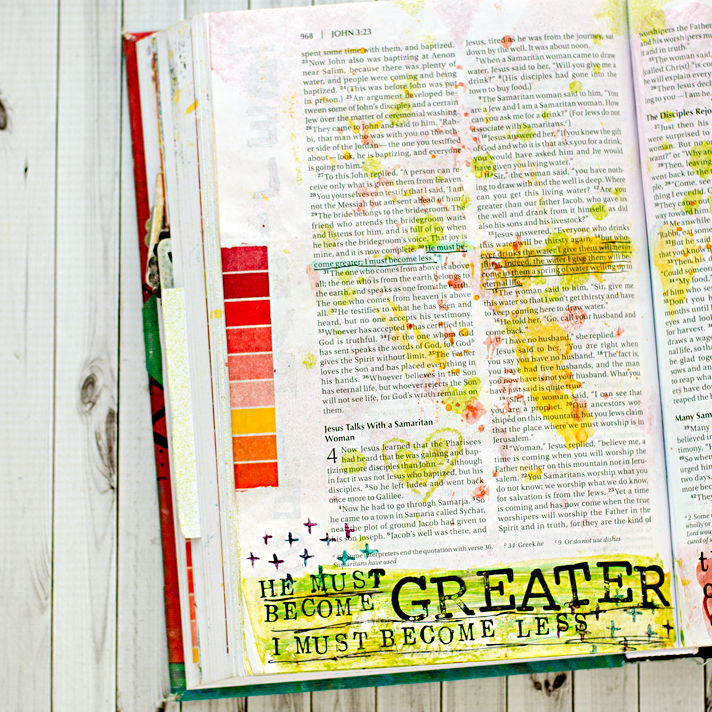 Art Worship Mixed Media Art Journaling Bible | Illustrated Faith | John 3