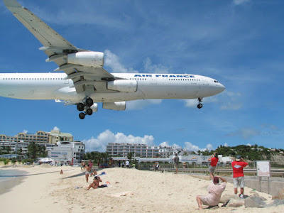 Airport in Saint Martin Island