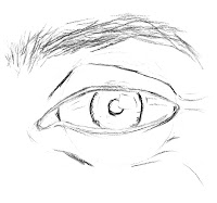 step 2 of drawing an eye