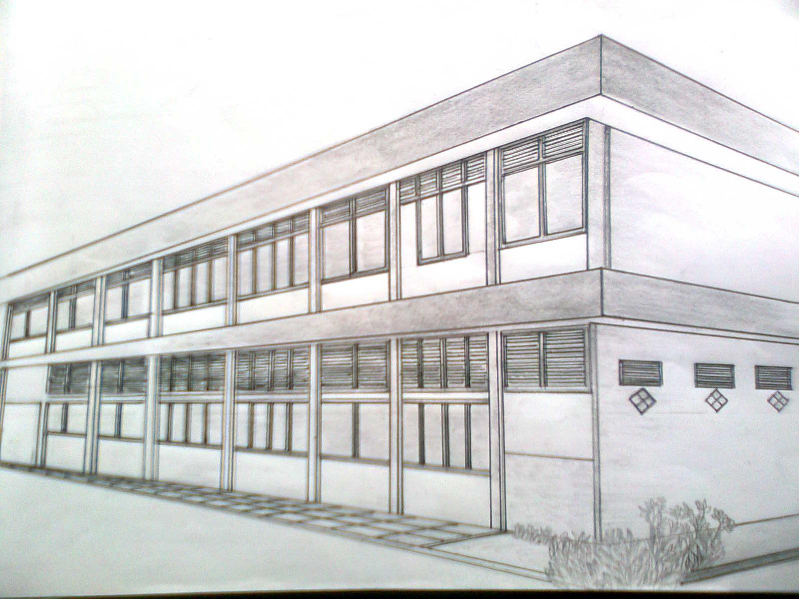 Gambar Rumah Sederhana Perspektif