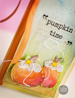 SRM Stickers Blog - Pumpkin Time by Michele - #card #fall #doily #pumpline #stickers #sentiments