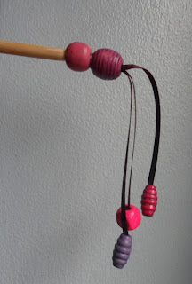 dangling beads hair slide
