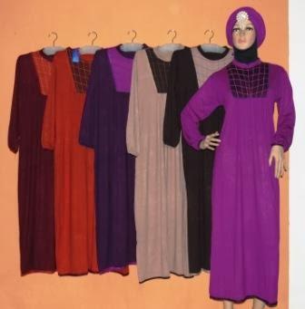 Baju Gamis Bahan Kaos Gkm4600 Grosir Baju Muslim Murah