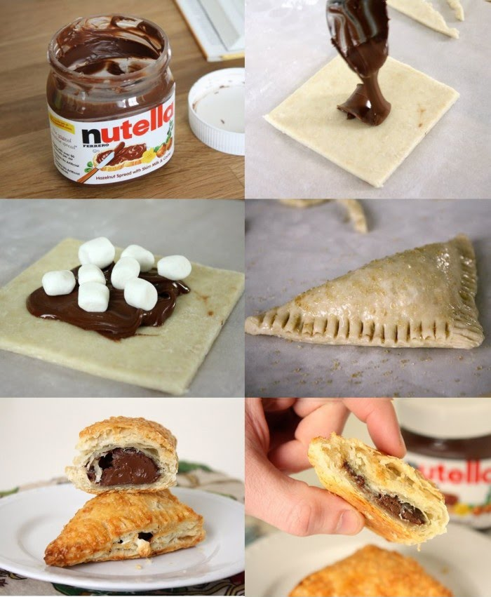 Yummy  Nutella Marshmallow Turnover
