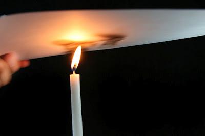 Pintura con humo vela