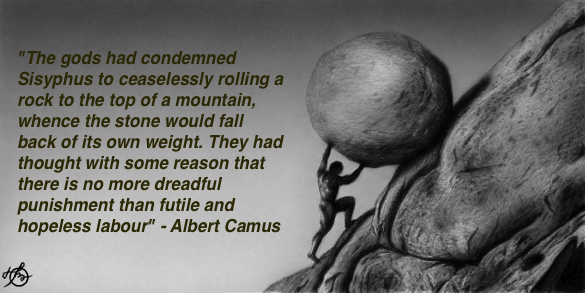 an analysis of the stranger and the myth of sisyphus by albert camus The gods had condemned sisyphus to ceaselessly rolling a rock to the top of a  mountain, whence the stone would fall back of its own weight they had thought.
