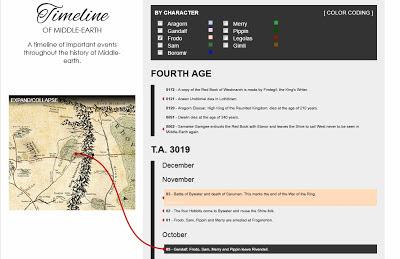Интерактивная карта Властелина колец