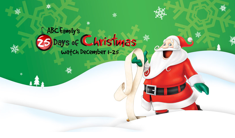 another major source of holiday entertainment is abc family channel and their 25 days of christmas scheduling december holiday programming as well as