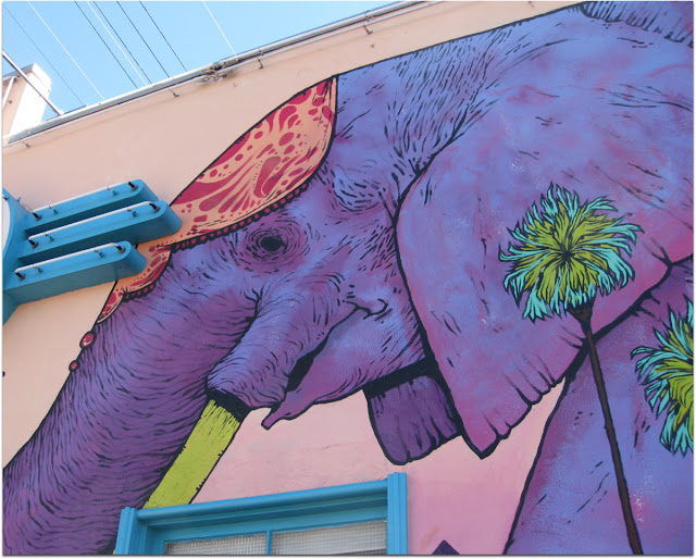 elephant mural cafe