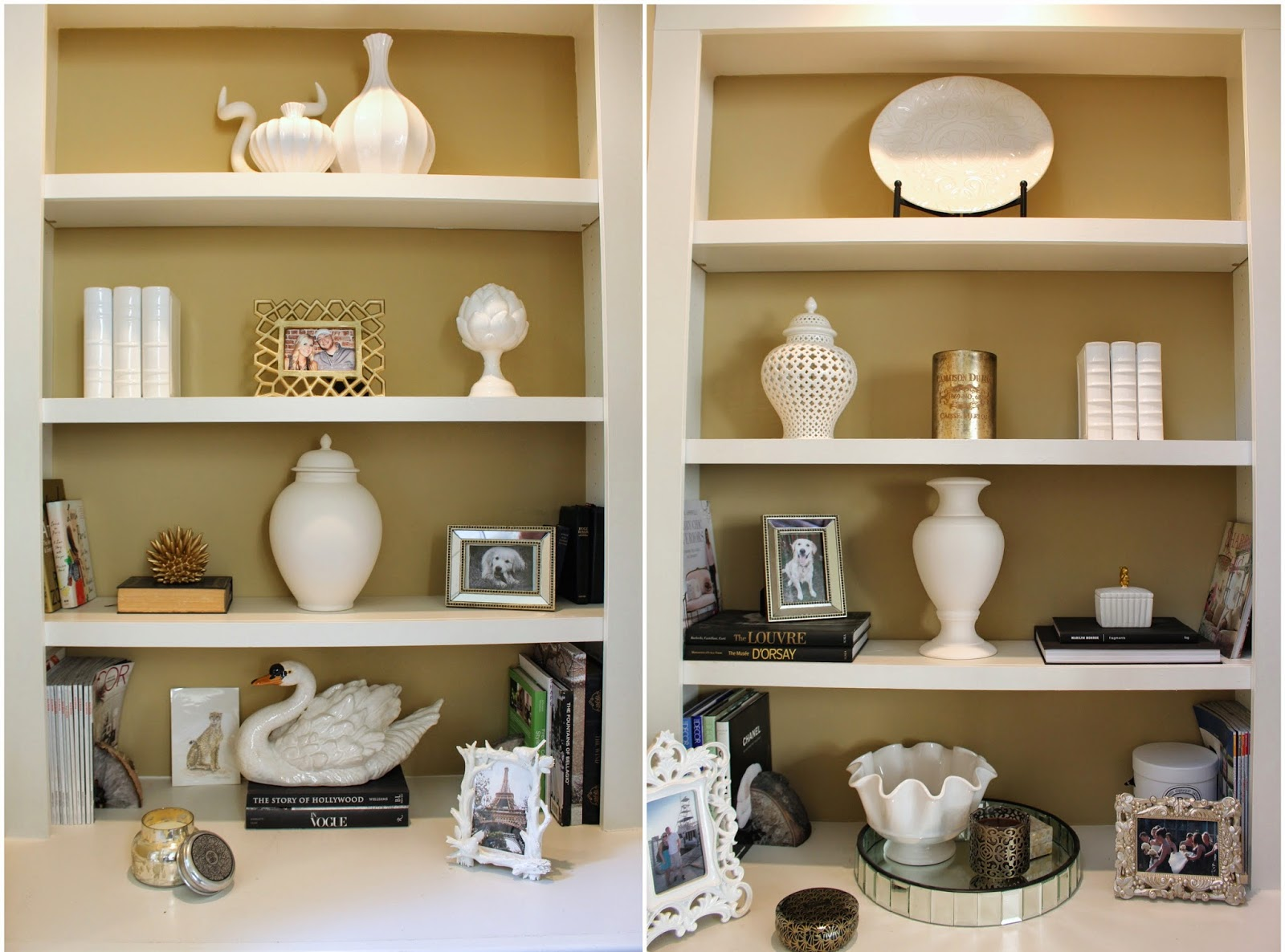 TiffanyD Tips For Bookcase Styling