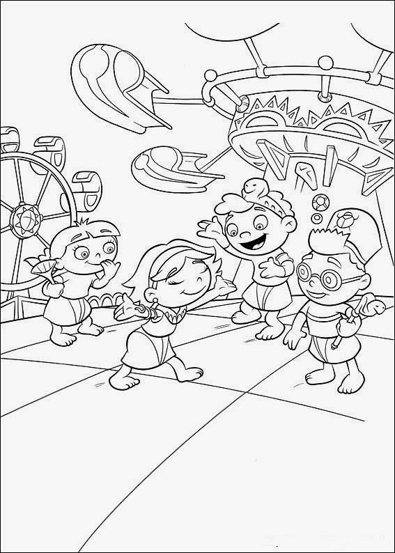 Fun Coloring Pages Little Einsteins Coloring Pages