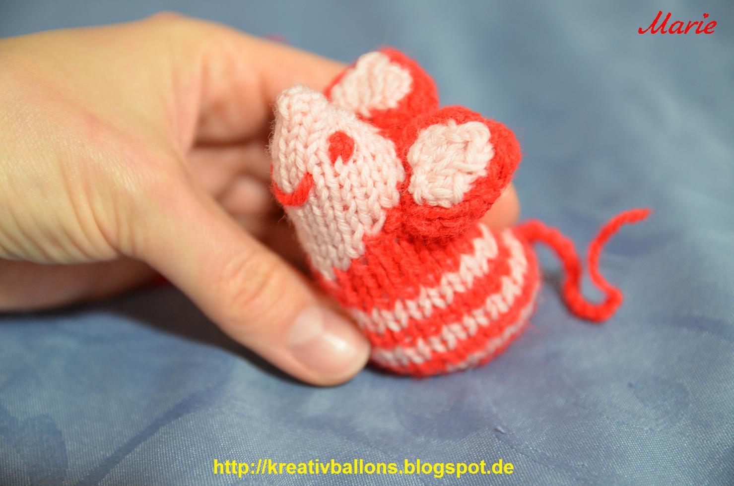 Maus stricken für die liebe katze