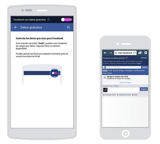 FACEBOOK GRATIS CON ENTEL