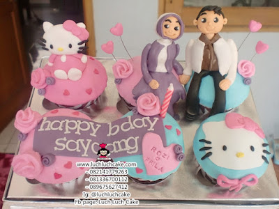 Cupcake Hello Kitty Romantis Daerah Surabaya - Sidoarjo